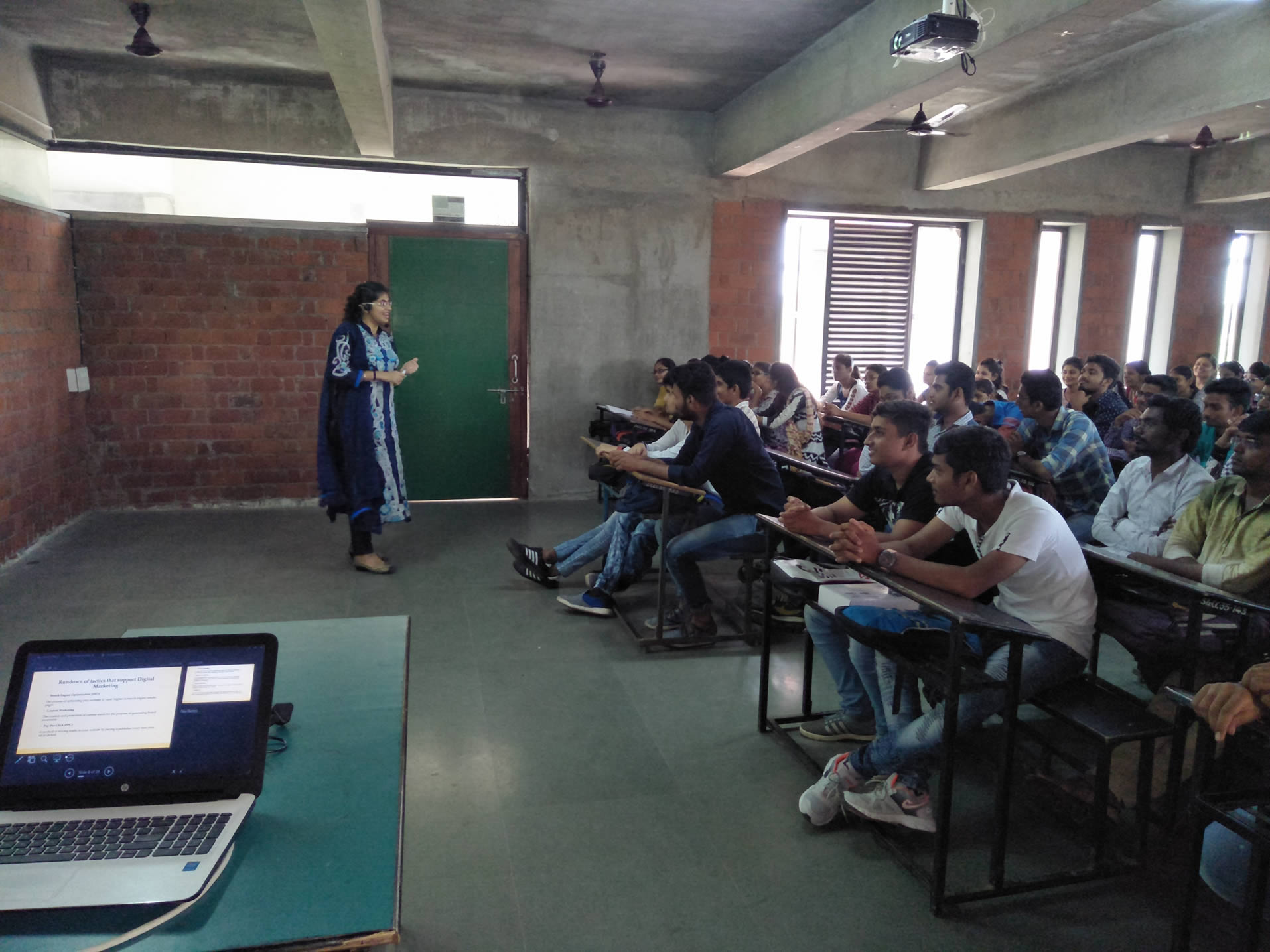 Seminar Conducted In Sabargam BCA College On The Topic Digital Marketing